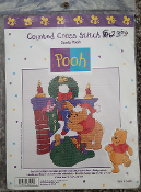Santa Pooh Counted Cross Stitch Kit (Pooh_34012)