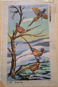 A NeedlePoint Design of 4 Pheasants 'NeedlePoint_832'