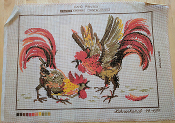 NeedlePoint Design of a Cock Fight 'Tapex_247699'