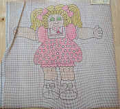 NeedlePoint Design of a Cuddly Girl in a Pink Dress 'Loli_139A'