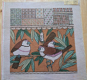 NeedlePoint Design of 3 Birds and Borders 'NeedlePoint_839'