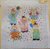 A NeedlePoint Design of 6 Clowns 'Rosalie_220'