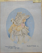 A French Bique Doll NeedlePoint Design 'NeedlePoint_840'