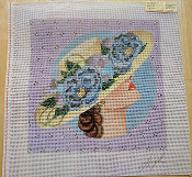 NeedlePoint Design- Lady Wearing a Floral Hat 'NeedlePoint_836'