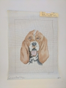 A Dachshung Hand-painted Needlepoint design 'NeedlePoint_845'