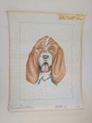 A NeedlePoint Portrait Design of A Dog 'NeedlePoint_454'