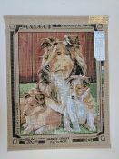 A Collier Dog Family NeedlePoint Design 'Margot_1248'