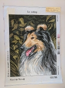 A Le Colley Dog  Needlepoint design 'RoyalParis_13296'