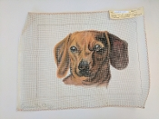 A NeedlePoint Design of a Dog 'Needlepoint_453'