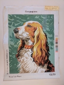 A Compagnon Dog  Needlepoint design 'RoyalParis_13251'