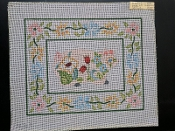 A Piggy Floral NeedlePoint Design and a Border 'NeedlePoint_860'