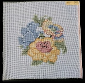 NeedlePoint Pillow-size Floral Design 'Rosalie_P83'