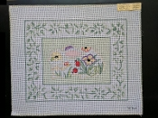 A Floral NeedlePoint Design With a Border 'NeedlePoint_859'