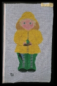 Boy in Raincoat NeedlePoint 'NeedlePoint_419'