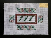 NeedlePoint Brick Cover Floral Design 'Rosalie_BK17'