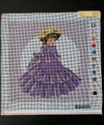 Needlepoint Design- Lady in a Purple Dress 'NeedlePoint-865'
