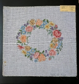 Pillow-size  NeedlePoint Round Floral Design 'Rosalie_P228'