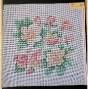 NeedlePoint Pillow-size Floral Design 'Rosalie_P33'