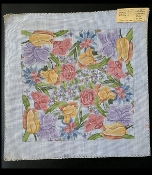 NeedlePoint Pillow-size Floral Design 'Rosalie_P228'