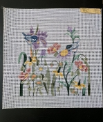 NeedlePoint Birds and Irises Design 'Rosalie_P320''