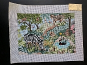 NeedlePoint Jungle Animals l Design 'Rosalie_P107A'