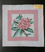 Pillow-size  NeedlePoint Floral Design 'Rosalie_P05'