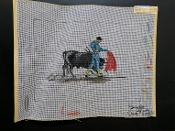 A 'Bull Fighter' Needlepoint Design 'NeedlePoint_406'