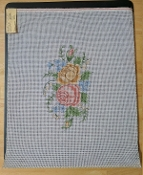 NeedlePoint Bench Cover Floral Design 'Rosalie_P237'