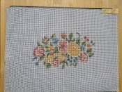 NeedlePoint Bench Cover Floral Design 'Rosalie_P77'