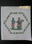 Hand-Painted Needlepoint Design of a Couple 'NeedlePoint_404'