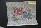 Kappie Needlepoint Canvas- 'Sing a Happy Song #1104'