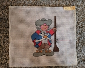 A 'Colonial Soldier' Needlepoint Design 'Needlepoint_814'