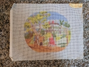 A 'Residential Scene' NeedlePoint Design 'NeedlePoint_855'
