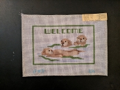 3 Welcome Beavers Hand-painted Needlepoint Design 'PIP_Q36