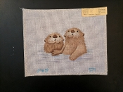 2 Beavers Hand-painted Needlepoint Design 'PIP_S29'