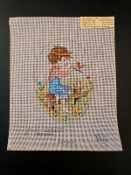 'Flute Player with a Bird' Needlepoint Design 'Joyce_162'
