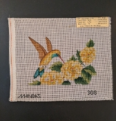 A Hummingbird feeding on Flowers NeedlePoint 'Mandas_308'