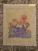 Kitten and Flowers Needlepoint Design 'NeedlePoint_426'