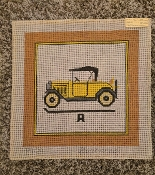 A Vintage Car Hand-painted Needlepoint Design 'Baroness_P10'