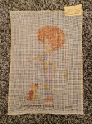 A Boy Going Fishing Needlepoint Design 'Brentwood_6066'