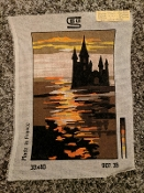 A Castle-By-The Sea Needlepoint Design 'SEG_90735'
