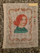 A 'Woman in Frame' Needlepoint Design 'workshop_853'