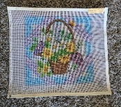 A 'Basket of Daisies Plus' NeedlePoint Design 'NeedlePoint_853'
